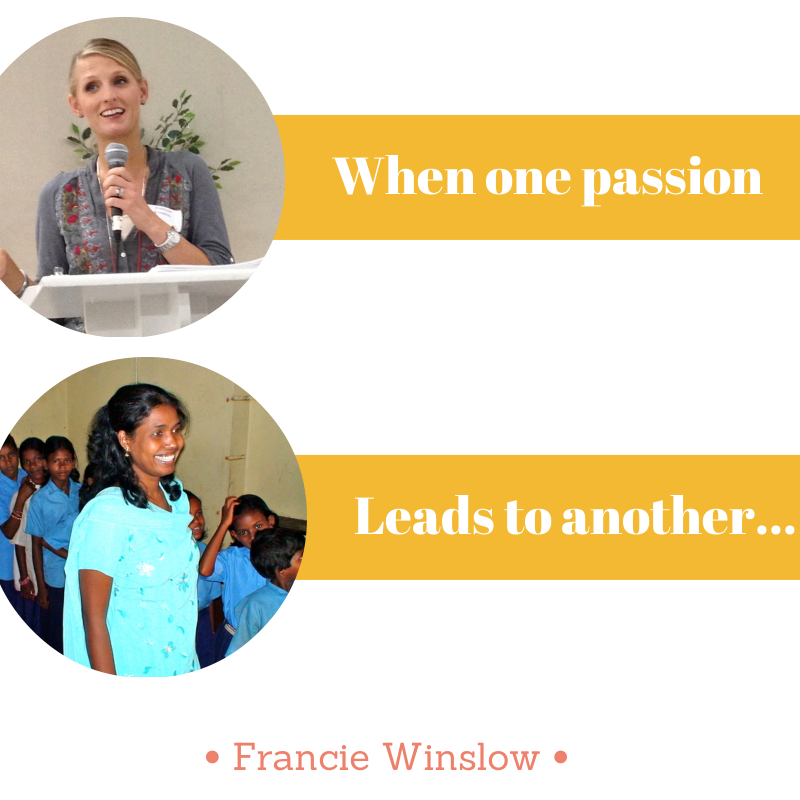 When one passion leads to another...